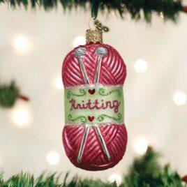 Knitting Yarn Ornament