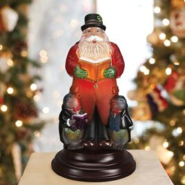 Caroling Santa Night Light