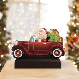 Santa In Antique Car Light